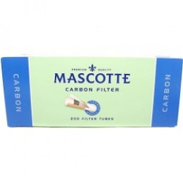 Гильзы сигаретные MASCOTTE Carbon фильтр угольный 200 шт