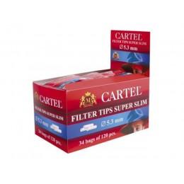 Сигаретные фильтры Cartel Slim 120 шт. (5.3 мм)