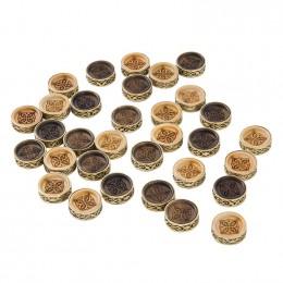 Набор резных фишек для нард с бронзой 205, Haleyan